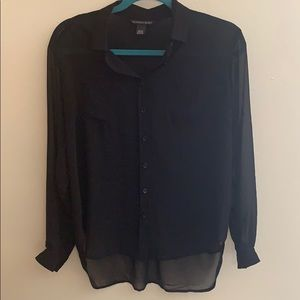 Black button up from Victoria's Secret